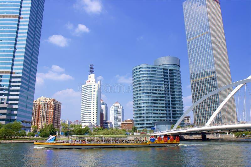 Promenade in Tianjin, China royalty-vrije stock fotografie