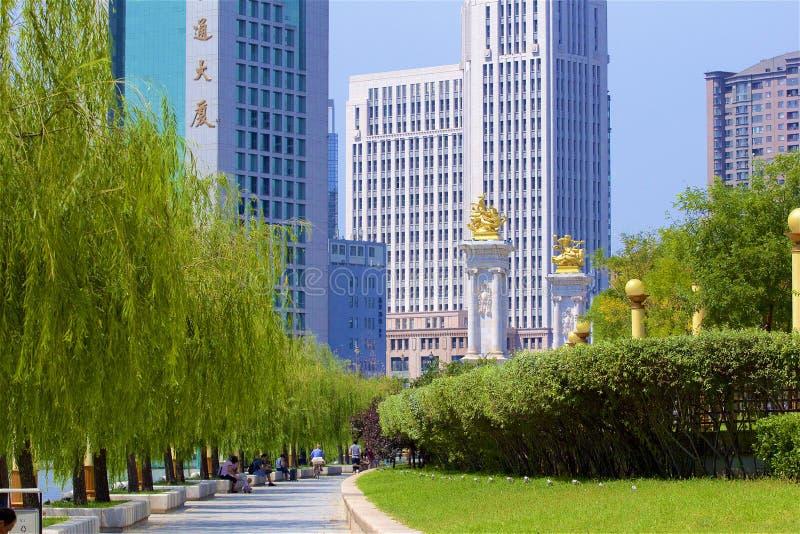 Promenade in Tianjin, China royalty-vrije stock foto's