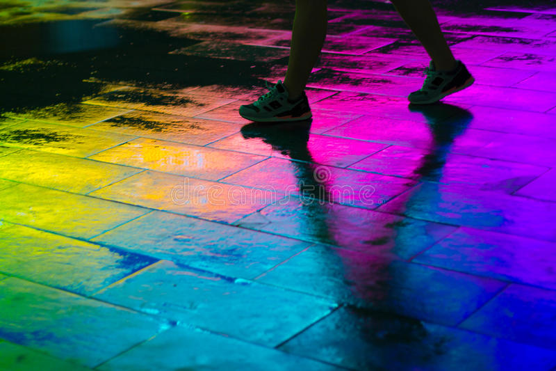 Promenade VI d'arc-en-ciel photographie stock libre de droits