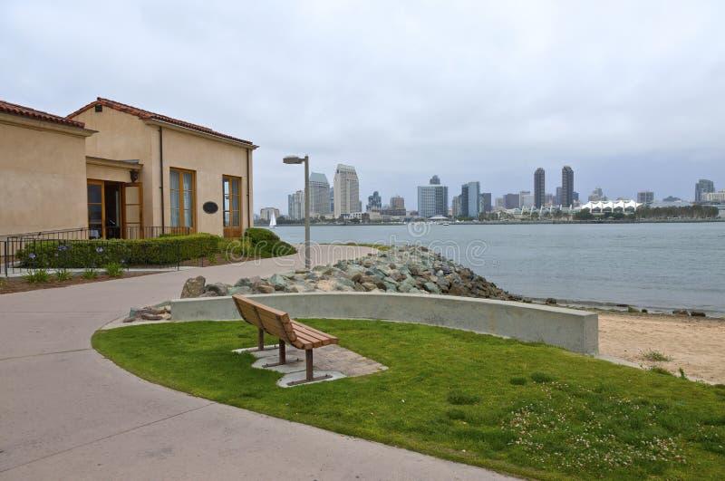 Promenade view from Coronado island California. stock images