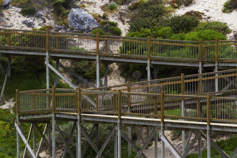 Promenade voor het bekijken van Verbindingsbaai op Kangoeroeeiland stock foto's