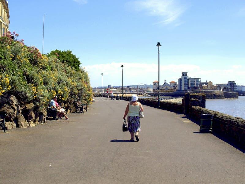 Promenade, Weston-Super-Mare. stock photography
