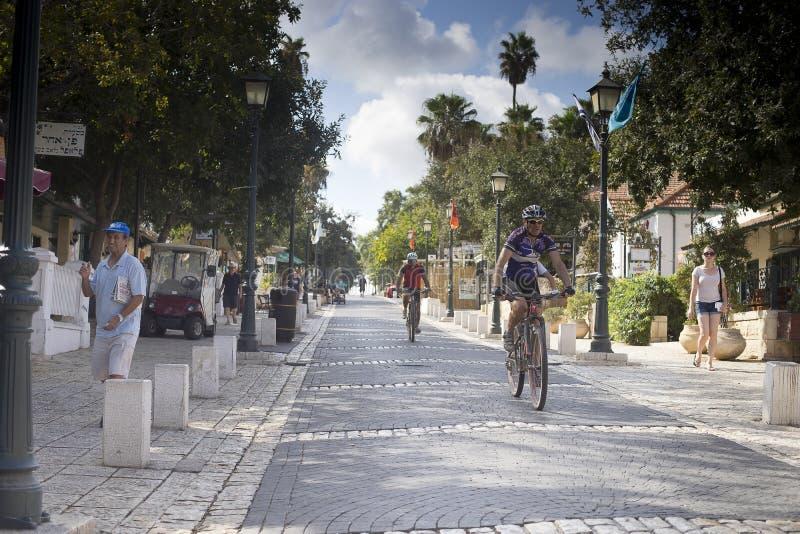 'promenade' Zichron Yaakov imagen de archivo libre de regalías