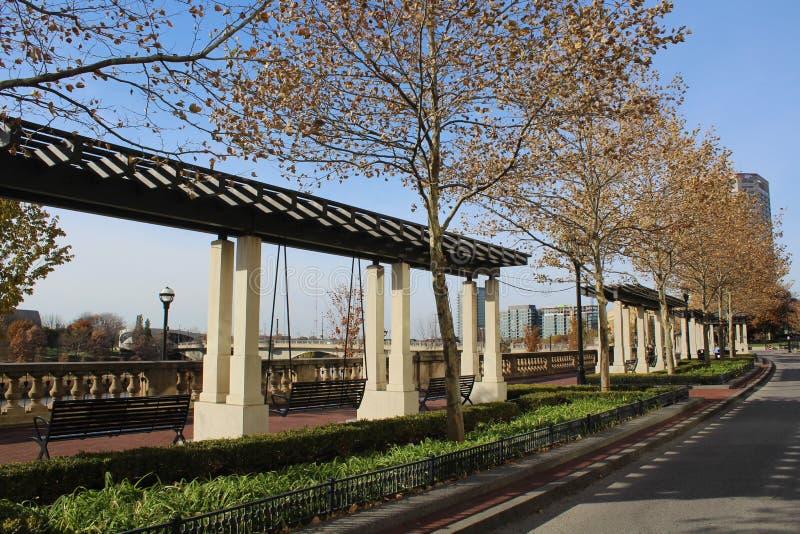 Promenade, zweihundertjähriger Park, Columbus Ohio stockfotografie