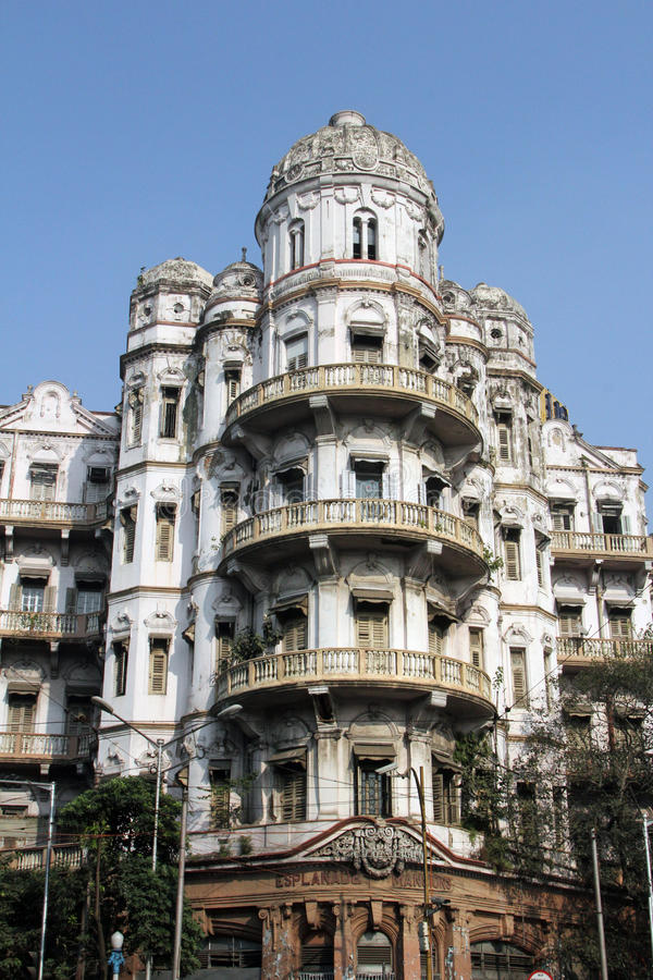 Promenadeherenhuizen in Kolkata royalty-vrije stock afbeeldingen