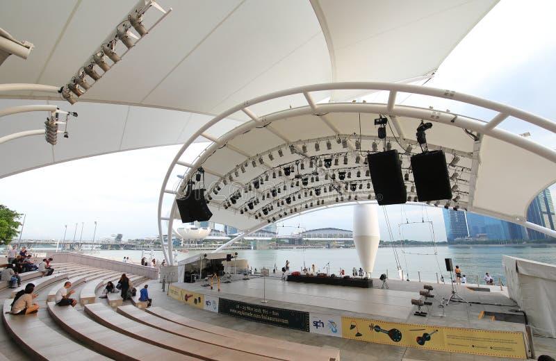 Promenadetheater Singapore royalty-vrije stock afbeeldingen