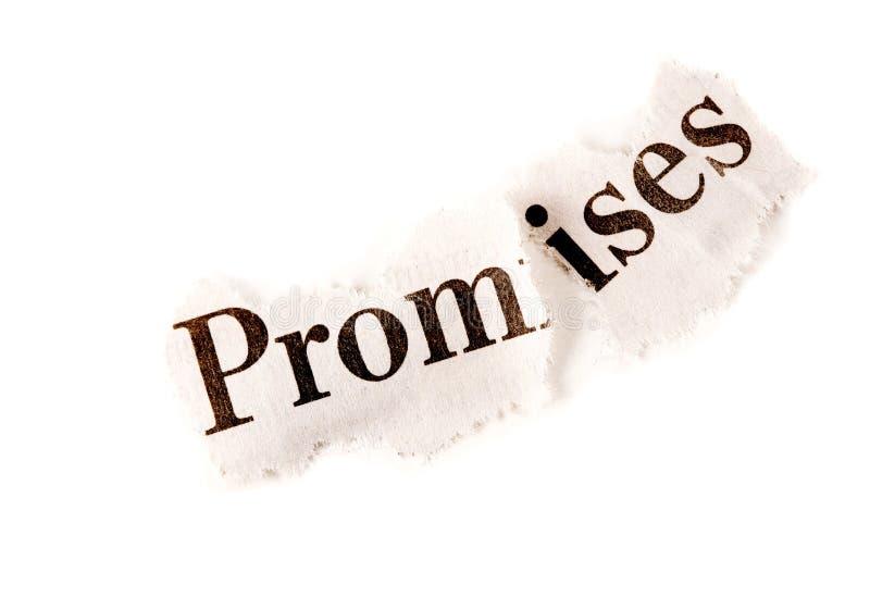 Promessas quebradas fotos de stock