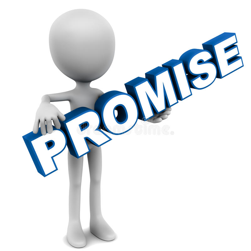 Promesse illustration stock