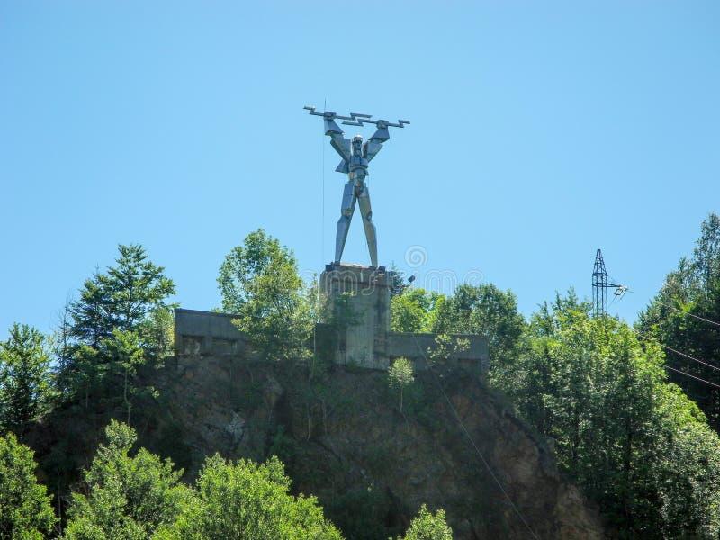 Prometheus雕象  免版税图库摄影