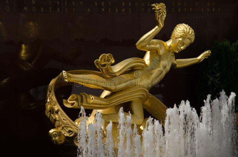 PROMETHEUS - plaza de Rockefeller, New York City imagem de stock royalty free