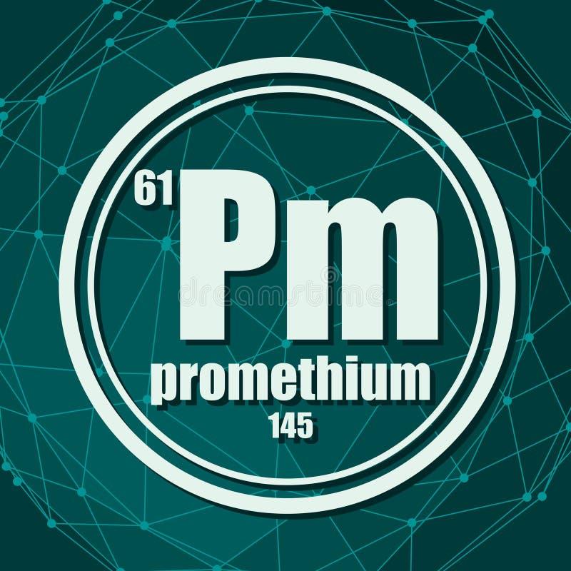 Promethium chemisch element stock illustratie