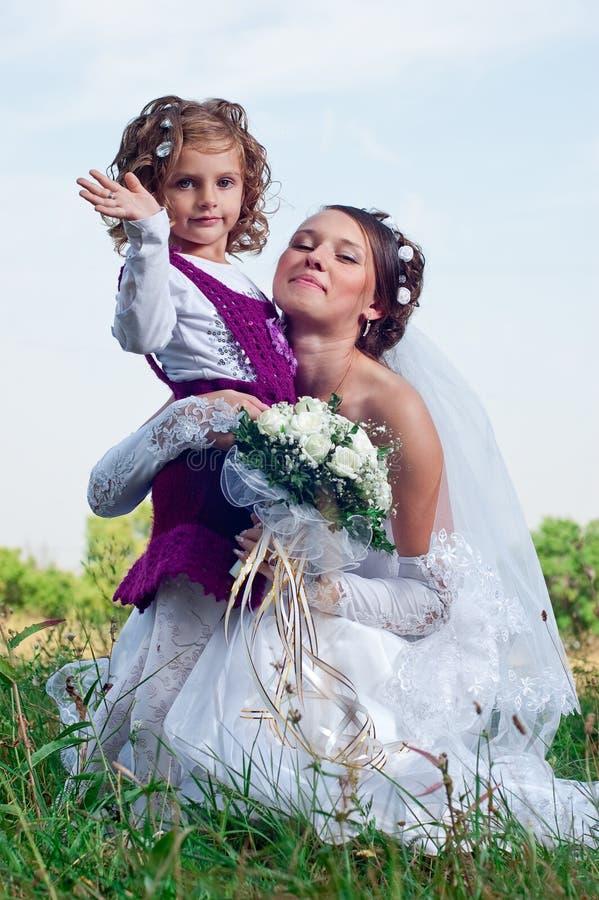 Prometido joven maravilloso y niña hermosa imágenes de archivo libres de regalías