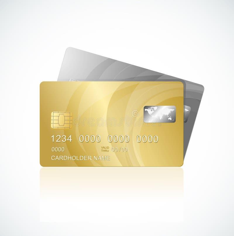 Promi kardiert Gold und Silber lizenzfreie abbildung