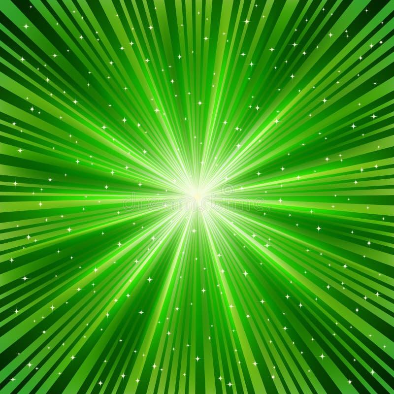 promień zielona gwiazda ilustracja wektor