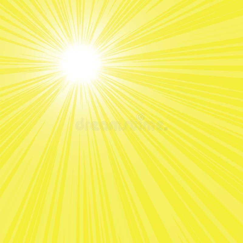 promienia jaskrawy słońce ilustracji