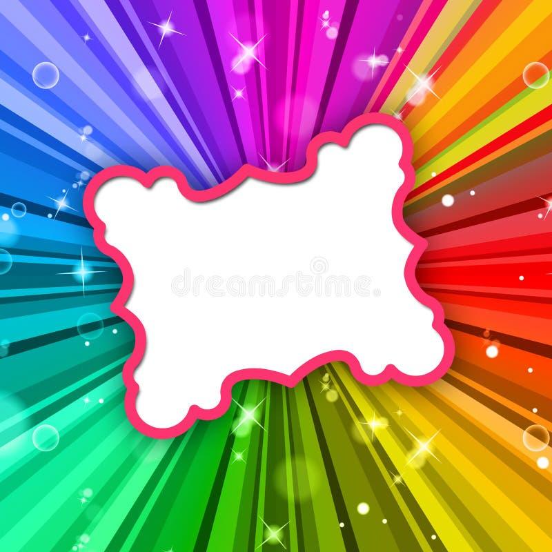 Promienia kolor Reprezentuje Ramowego Colour I Promieniuje ilustracji