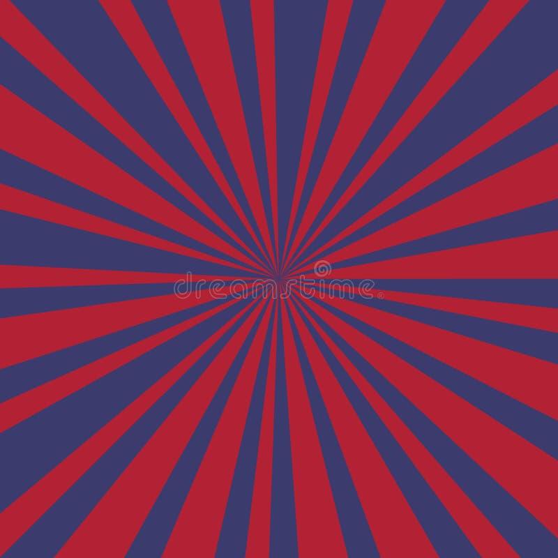 Promienia tło Usa kolory z grunge - wektor ilustracji