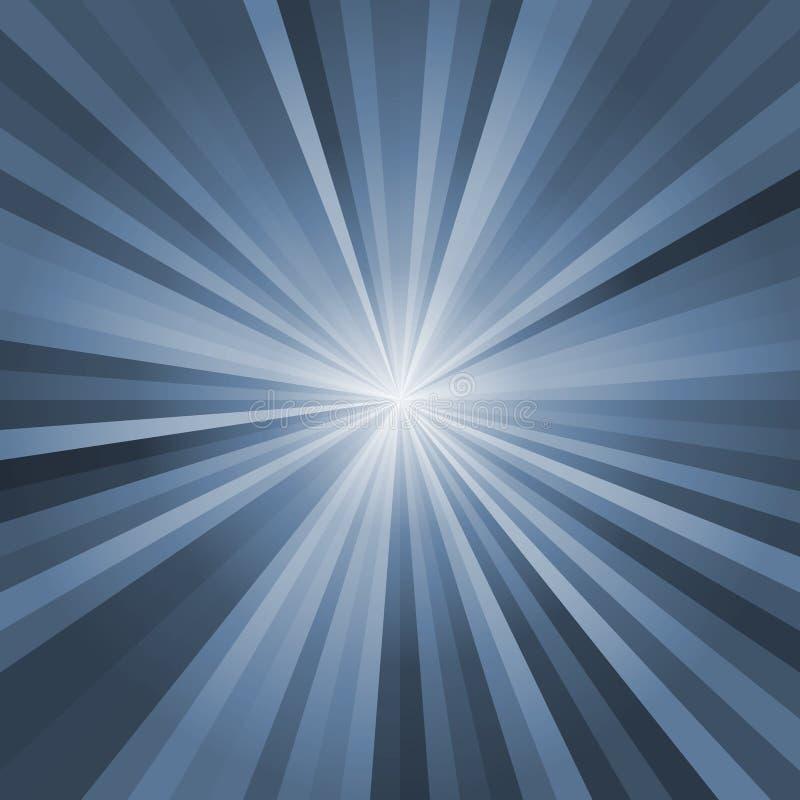 Promienia tło z lekkim wybuchem w środku ilustracja wektor