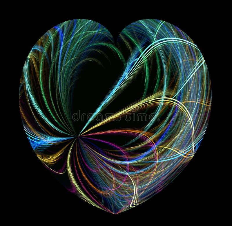 promienie koloru serca ilustracji