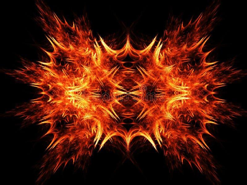 promienie pożarowe lecieć ilustracji