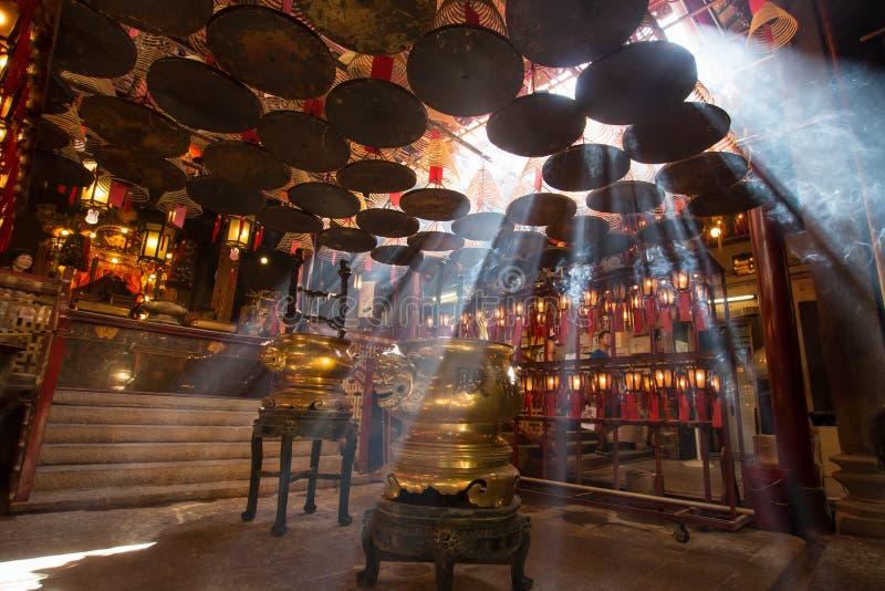 Promienie w świątyni, Hong Kong zdjęcie royalty free