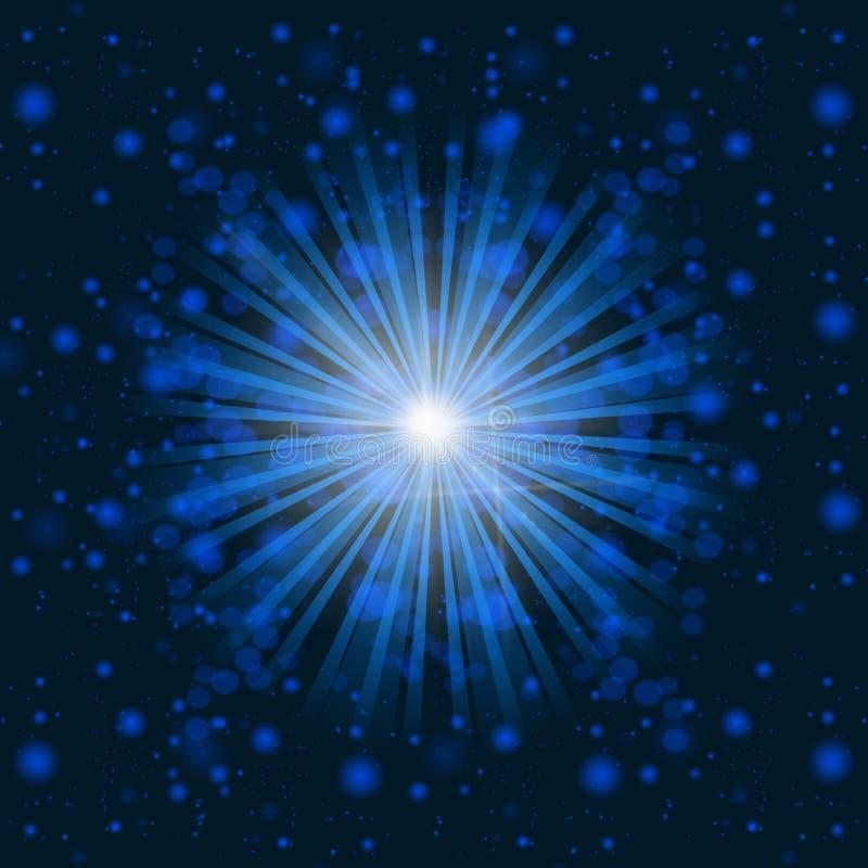 promienieje błękit światło ilustracja wektor
