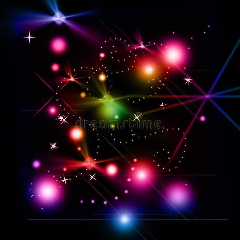 promienieje colourful ilustracja wektor