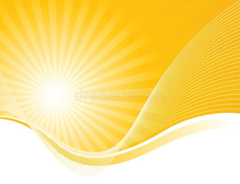 promienieje słoneczne fala royalty ilustracja