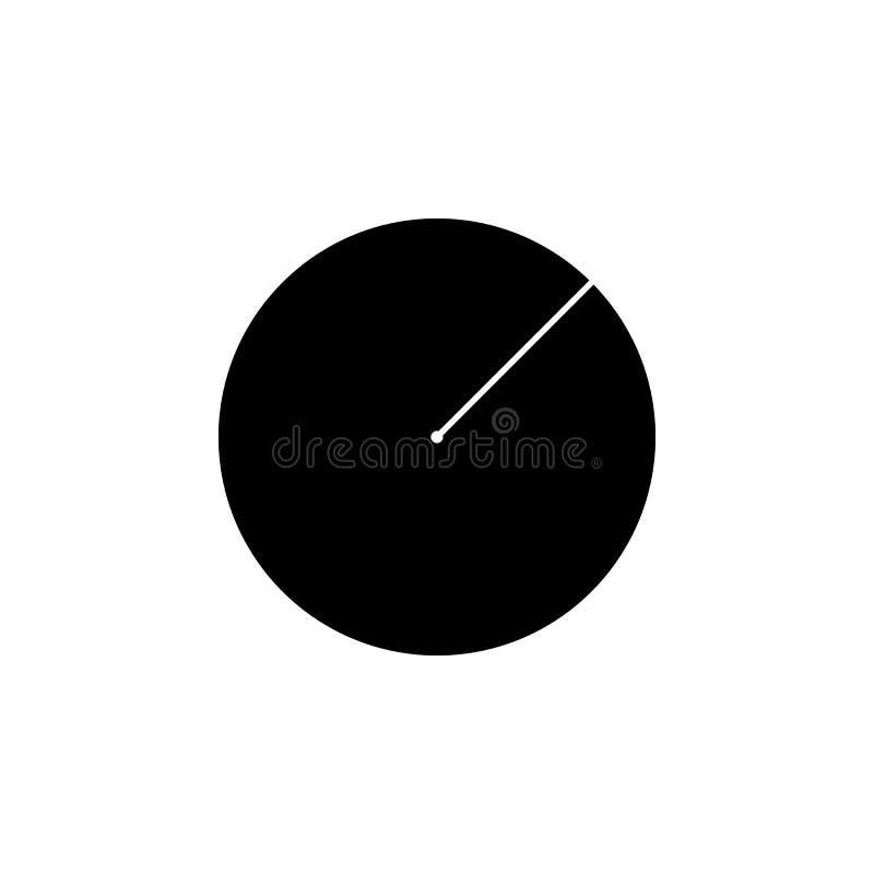 Promieniomierz okrąg ikona Elementy Geometryczna postaci ikona dla pojęcia i sieci apps Ilustracyjna ikona dla strona internetowa royalty ilustracja