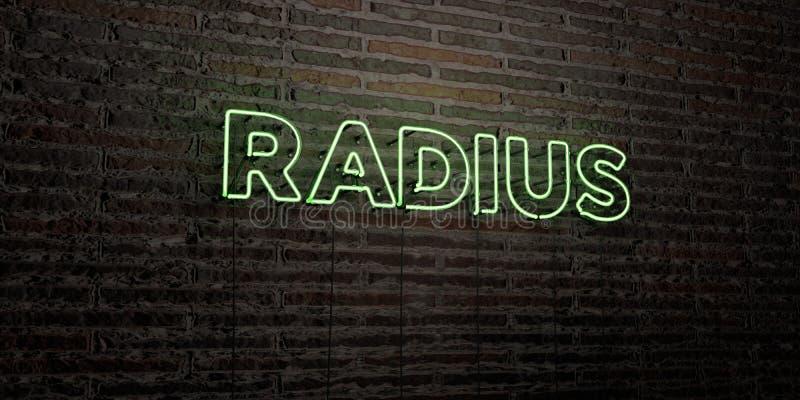 PROMIENIOMIERZ - Realistyczny Neonowy znak na ściana z cegieł tle - 3D odpłacający się królewskość bezpłatny akcyjny wizerunek royalty ilustracja