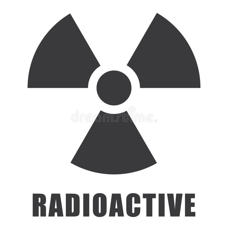 Promieniotwórcza ikona wewnątrz ilustracja wektor