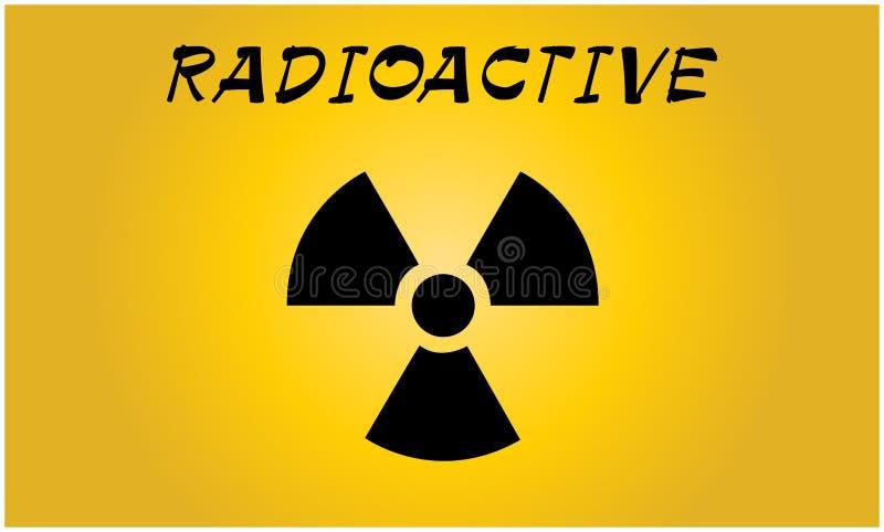 Promieniotwórczego kontaminowania symbol - Wektorowa ilustracja ilustracja wektor