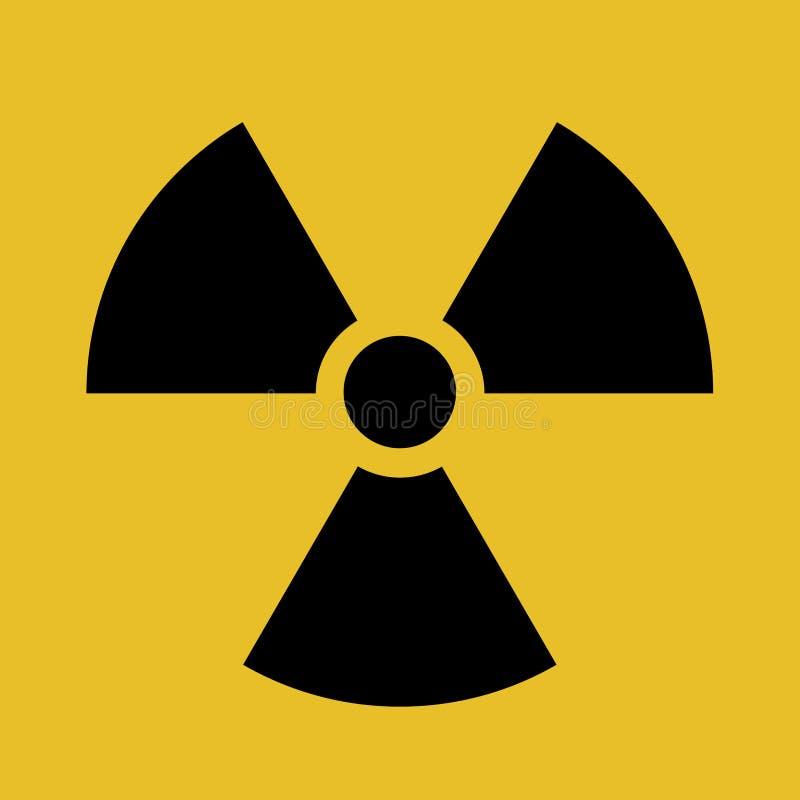 Promieniotwórczego kontaminowania symbolu wektoru ilustracja ilustracji