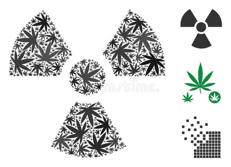 Promieniotwórczość skład Konopiani liście royalty ilustracja