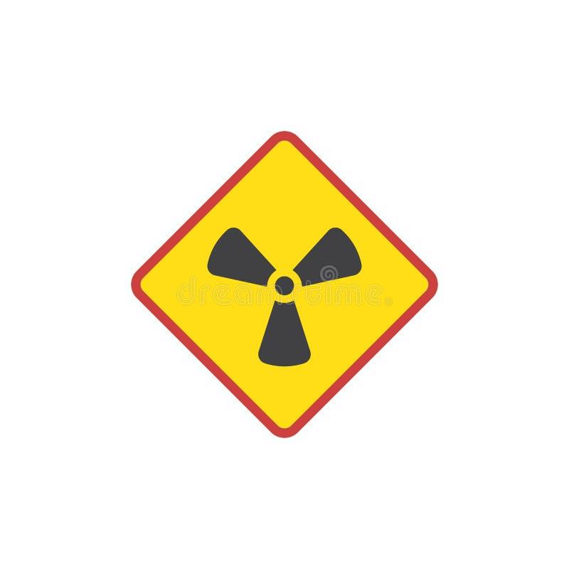 Promieniotwórczości szyldowa płaska ikona royalty ilustracja