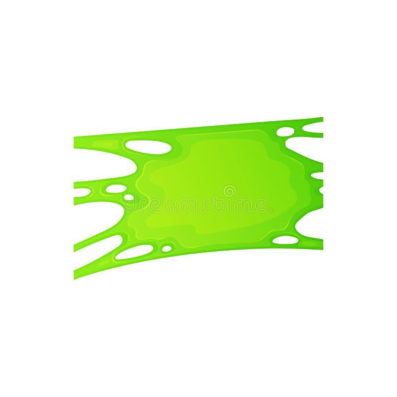 Promieniotwórczy ciecz lub zieleni szlamowa plama dla Halloween wektorowej ilustracji odizolowywającej ilustracja wektor