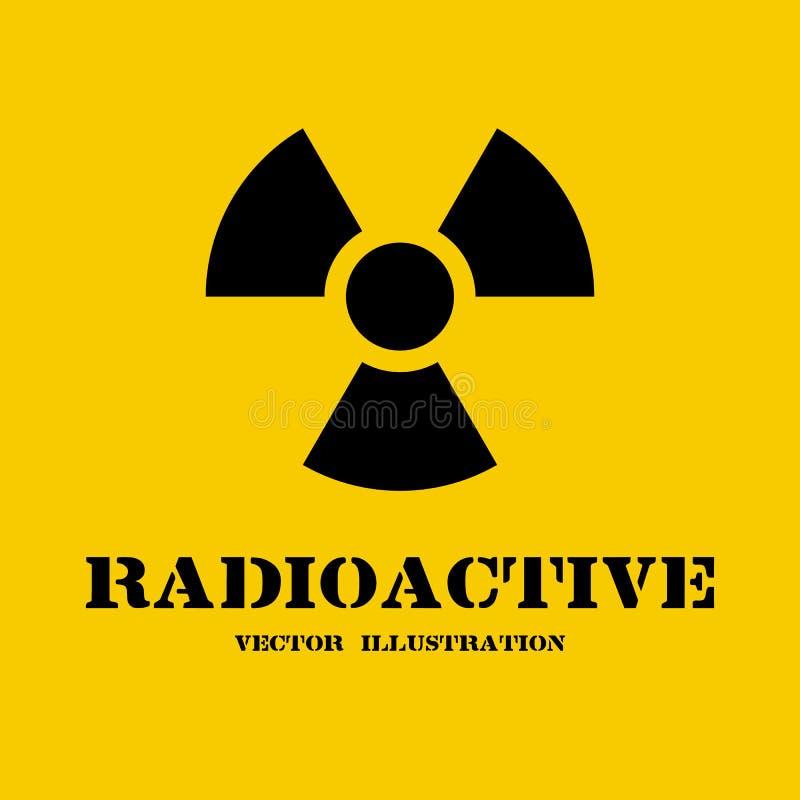 Promieniotwórczy symbol odizolowywający royalty ilustracja