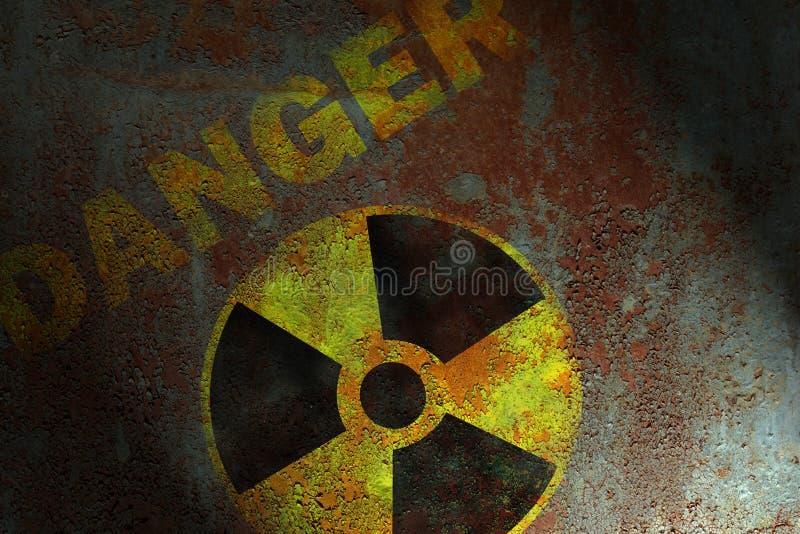 promieniotwórczy znak zdjęcia royalty free