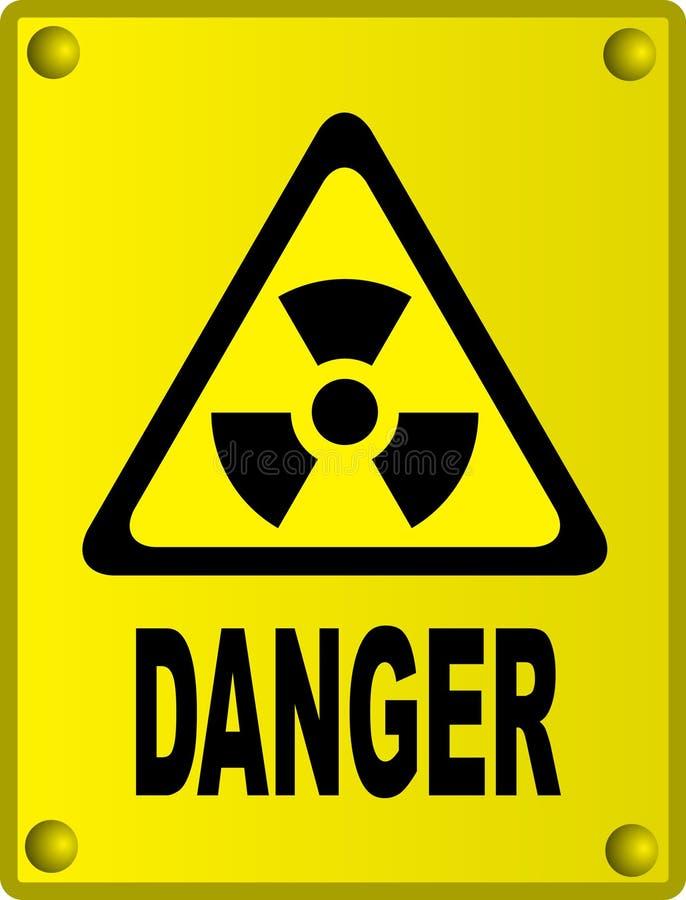 promieniotwórczy znak royalty ilustracja