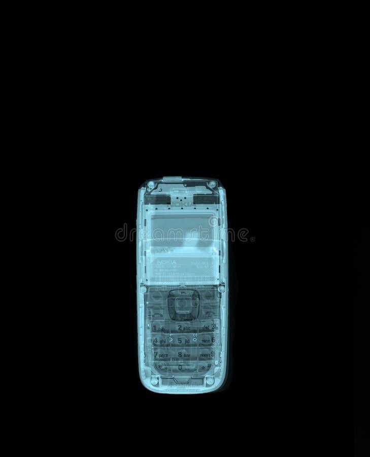 Promieniowanie rentgenowskie telefon komórkowy obraz royalty free