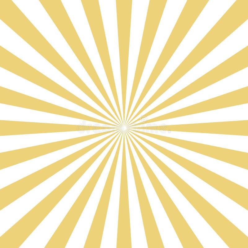 Promieniowy żółty słońce wybuch promienieje na białym tle wektor ilustracja wektor