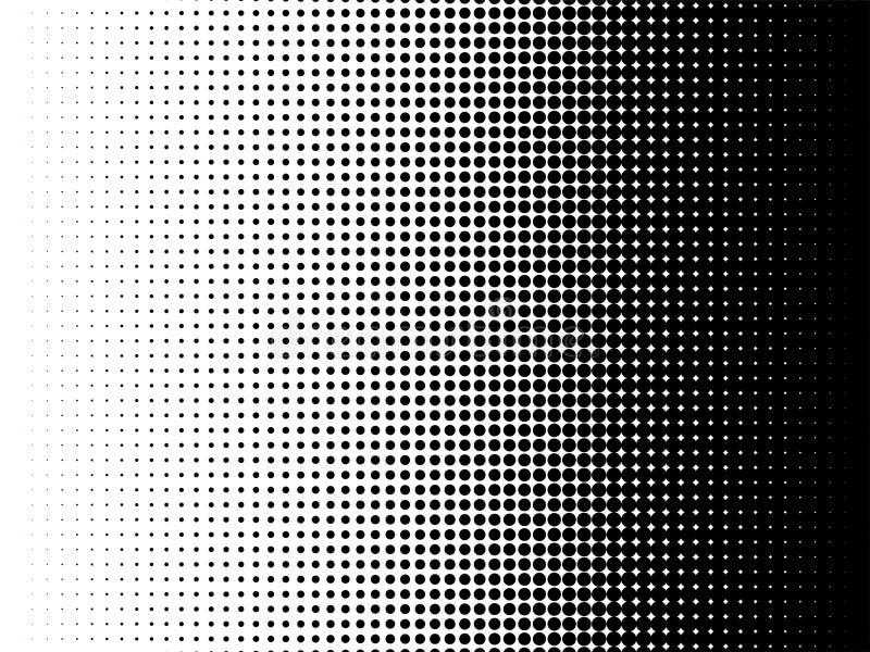 Promieniowy halftone wzoru tekstury wektoru tło royalty ilustracja