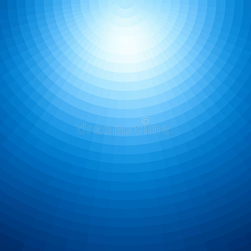 Promieniowy tło projekt Abstrakcjonistyczny błękitny wektorowy sztuka wzór Graficzny element, gradientowa podwodna ilustracja ilustracja wektor