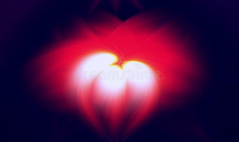 Prominencia oscura del fondo del fractal de la llama Modelo ilustración del vector