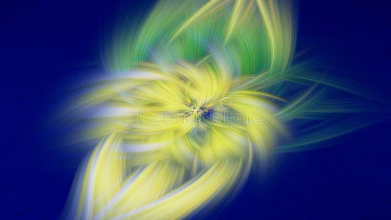 Prominencia oscura del fondo del fractal de la llama Papel pintado abstracto ilustración del vector