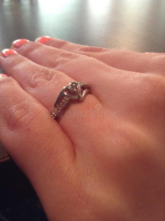 Promise Ring royalty free stock image