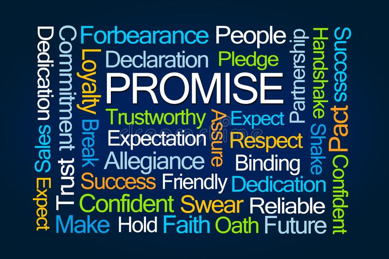 Promise Word Cloud royalty free illustration
