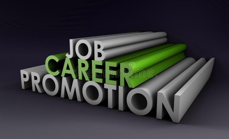 Promoção da carreira do trabalho ilustração do vetor