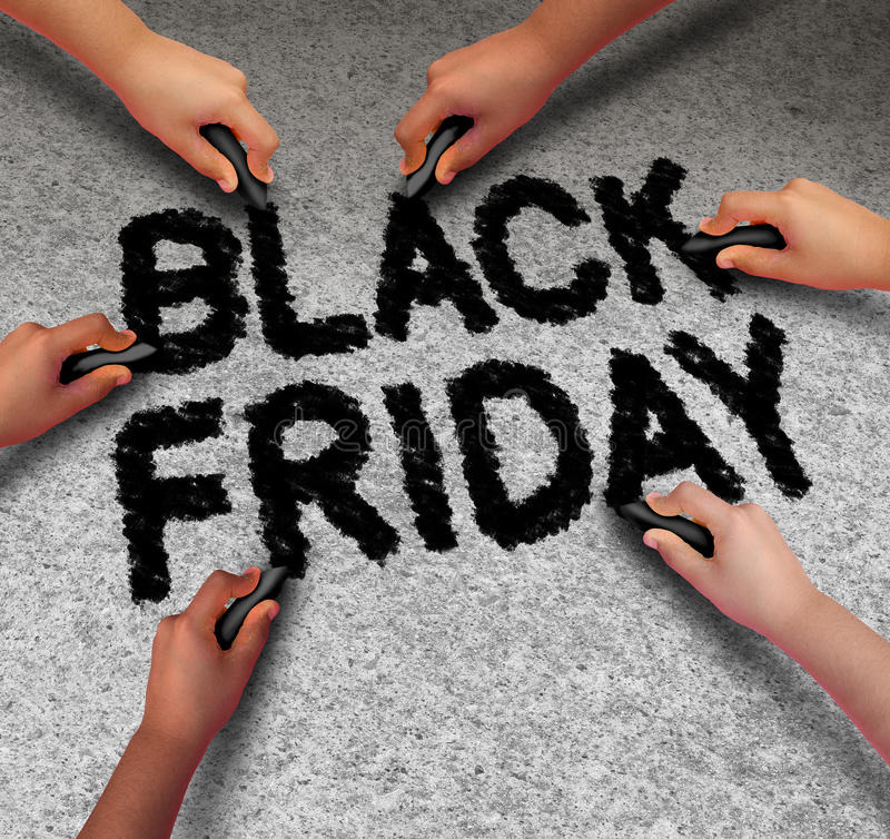 Promoção de Black Friday ilustração royalty free
