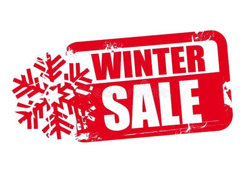 Promoção de venda do inverno ilustração do vetor